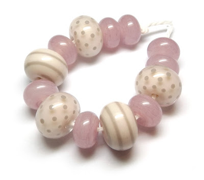 Lampwork glass beads by Laura Sparling