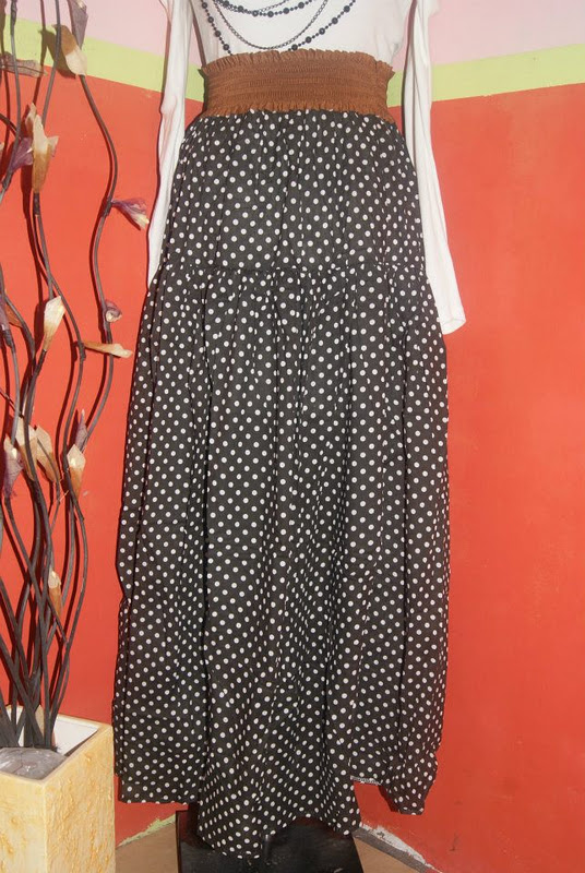 murahsaje collections maxi skirt polka dot