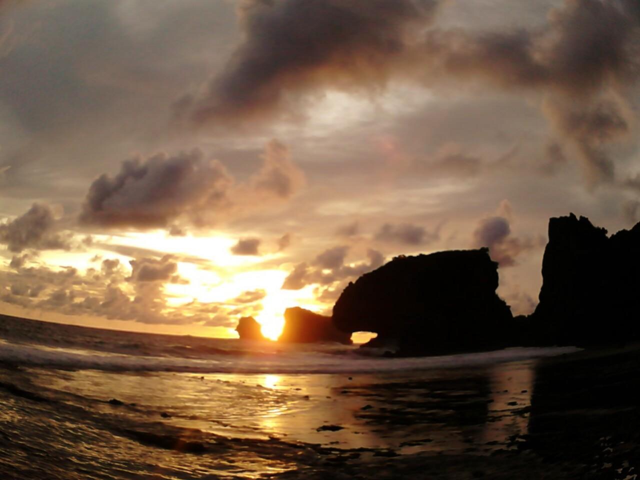 Sunset of Siung Beach, Gunung Kidul D.I. Yogyakarta