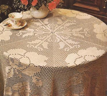 "Mantel Hexagonal ""Mosaico de Rosas"" a Crochet"