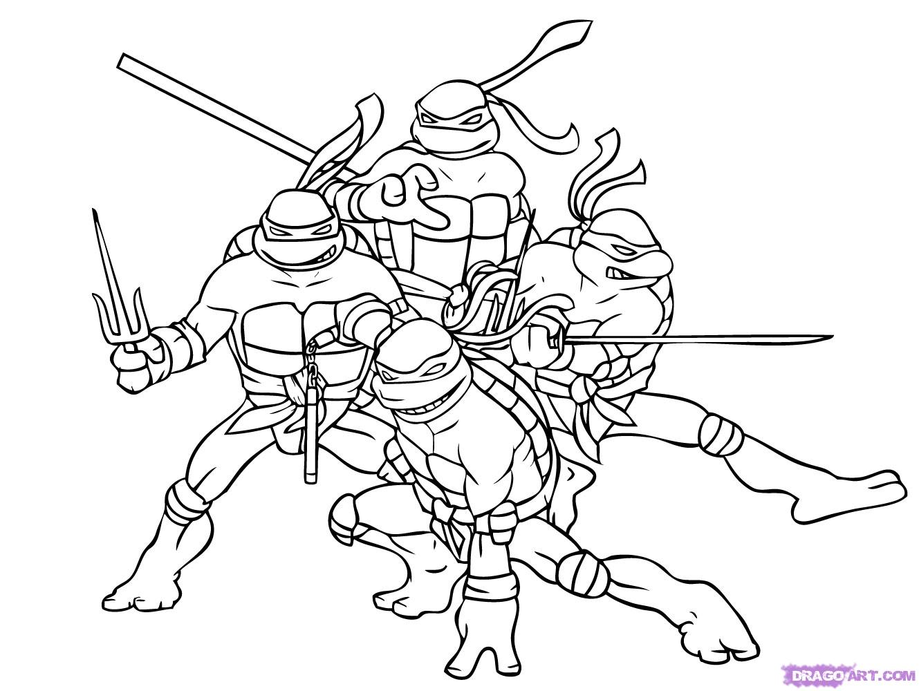 printable coloring pages ninja turtles - photo#1