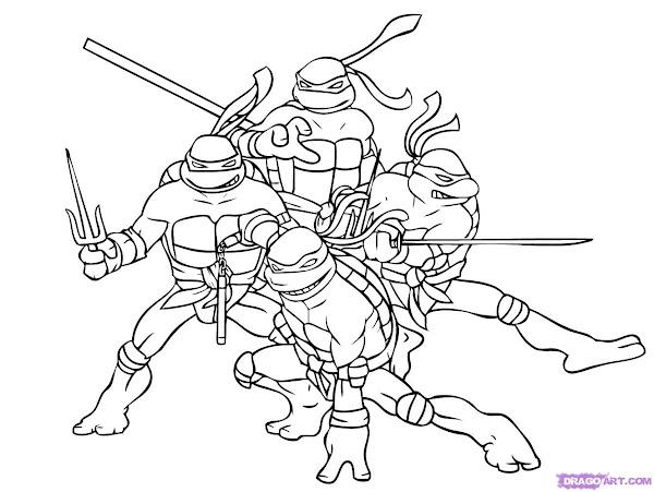 Mutant Ninja Turtles Coloring Pages