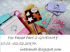 TOO FACED PART 2 GIVEWAY!