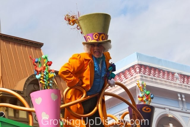 Mad Hatter in the Move It Shake It Celebrate It Street Party at Magic Kingdom
