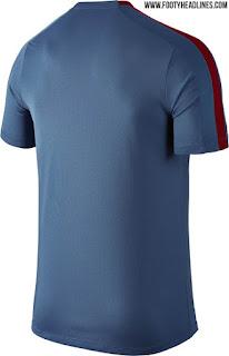 gambar terbaru musim depan Desain bagian belakang bocoran jersey training As Roma musim 2015/2016 di enkosa sport toko online terpercaya lokasi di jakarta