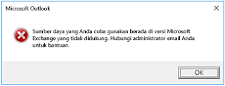 Error Microsoft Outlook Office 2016