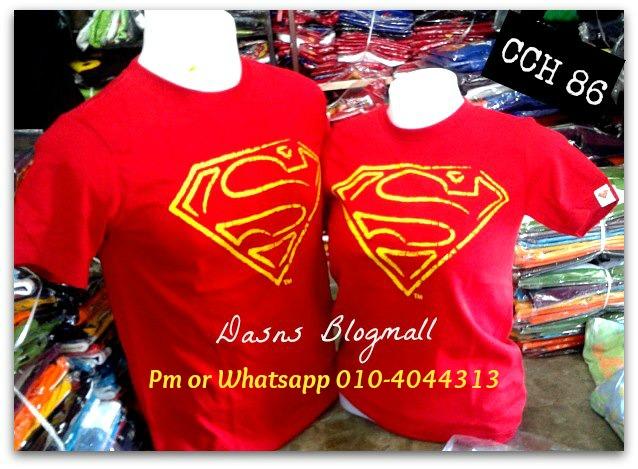 Couple superman tshirt baru balik dari mall