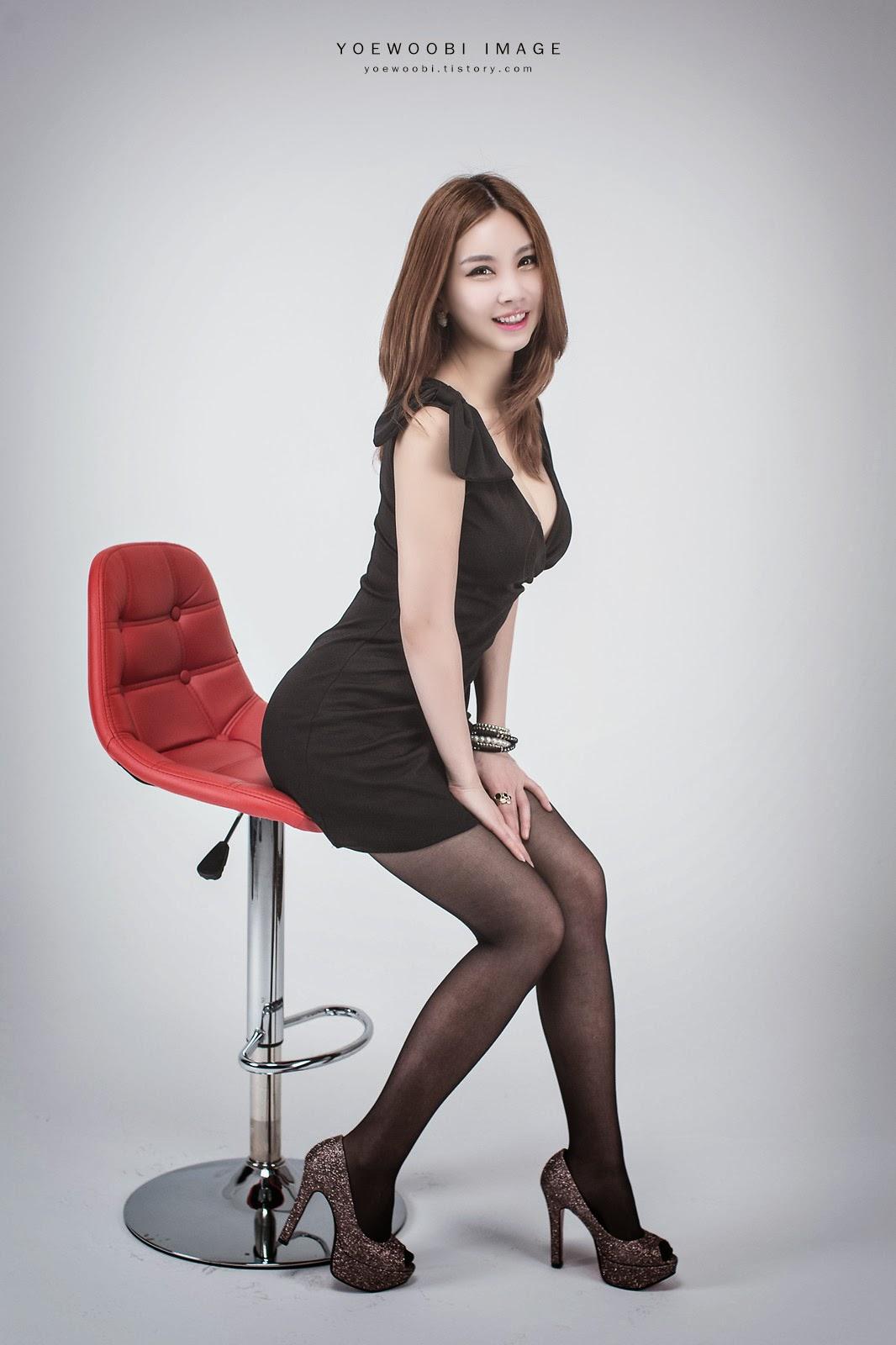 4 Lee Eun Yu - Little Black Dress - very cute asian girl-girlcute4u.blogspot.com