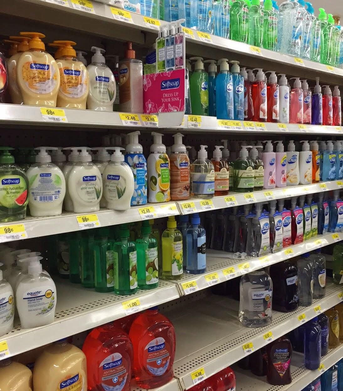 Softsoap at Walmart