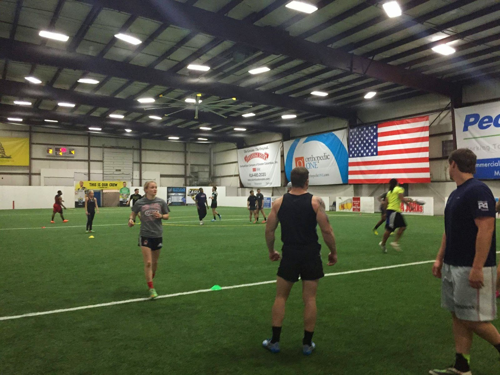 The W1823 ladies join in on a Tiger Academy training session in Columbus during their off-season preparation.