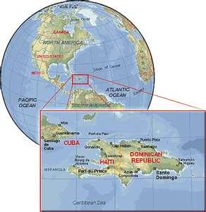 Mapa de la ubicación de Haití en el mundo