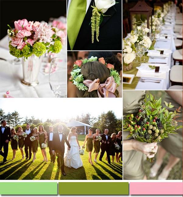 актуалните цветове при сватбите през тази гоина