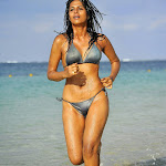 Actress Shraddha Das in Wet  Two Piece Bikini