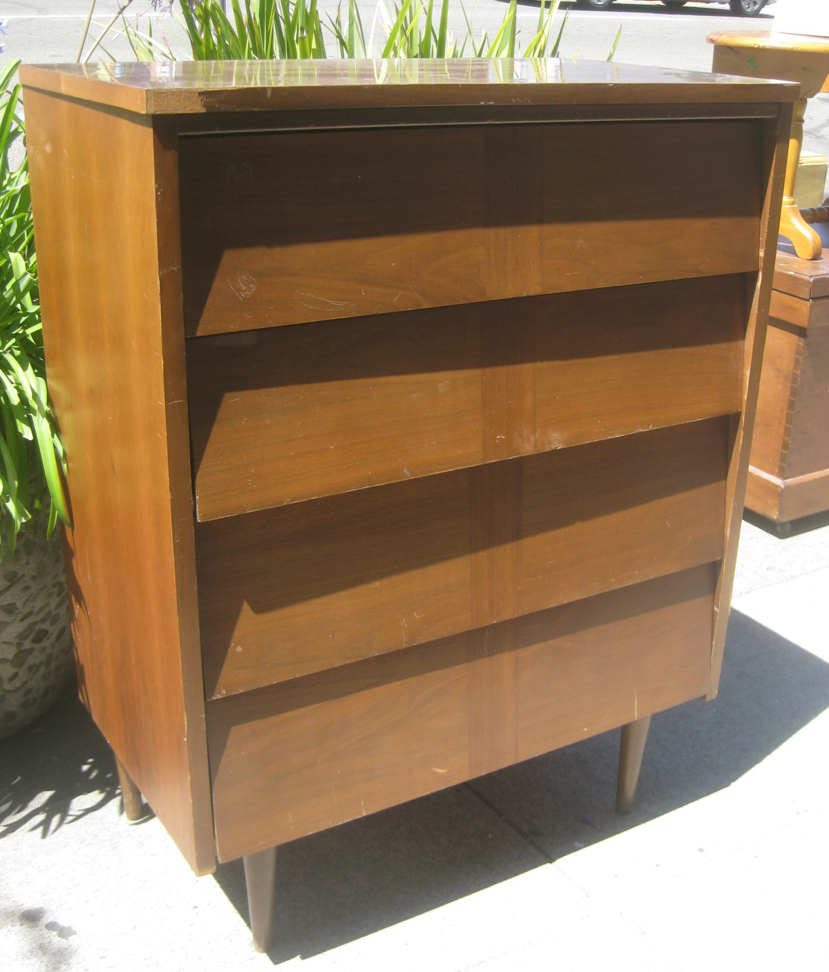 Sold   Danish Modern Chest Of Drawers   $60
