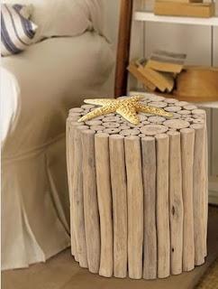 wide teak stool