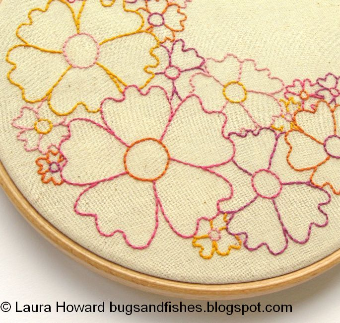 Bugs And Fishes By Lupin Flowers Free Embroidery Pattern