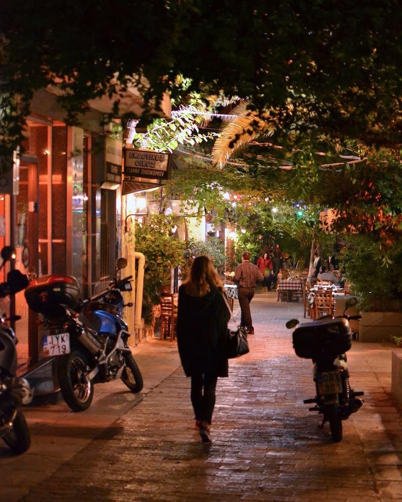 Ausgehen in Exarchia, Athen
