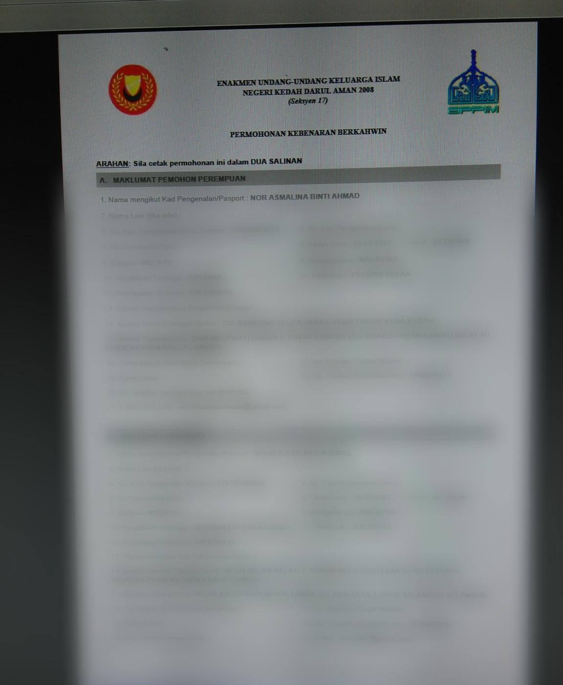 Suarahati Borang Nikah Online Kedah