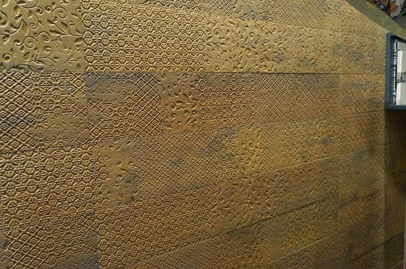 parede com texturas da Portinari - Expo Revestir 2014