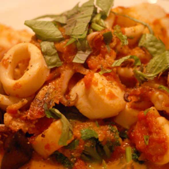 ... Shrimp, Calamari, Scallops & Mussels in a spicy tomato sauce