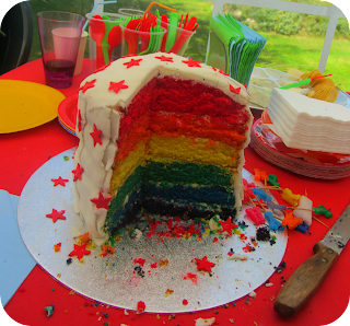 rainbow cake, you make me smile