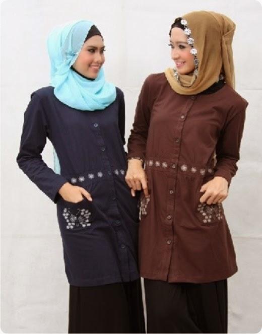 Model baju atasan muslim untuk remaja masa kini