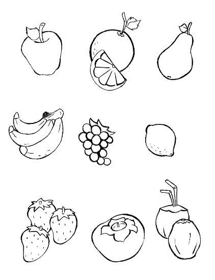 Frutas para pintar e imprimir - Imagui