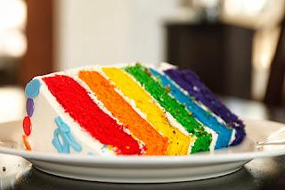 KUE PELANGI (RAINBOW CAKE) SURABAYA