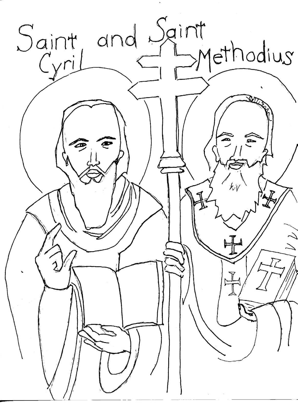 slim volume today u0027s lesser known saints coloring page saint