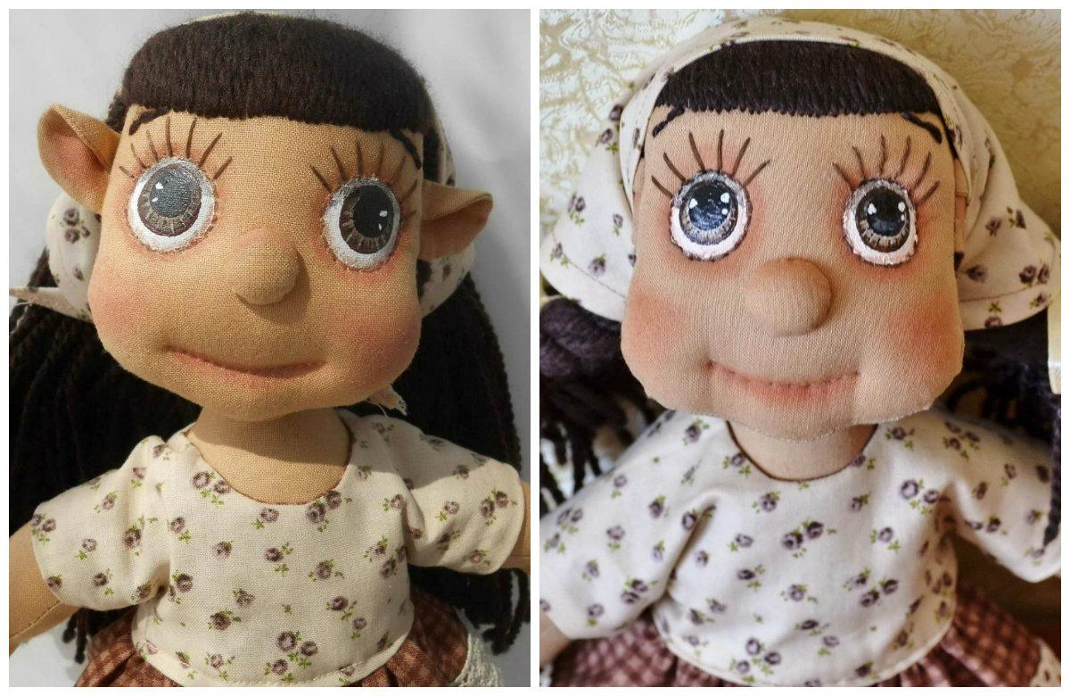 текстильная кукла карамелька