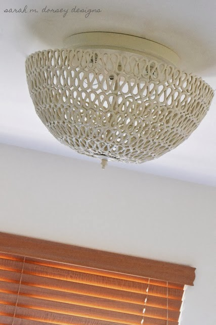 DIY Folded Rope Dome Pendant Light How To