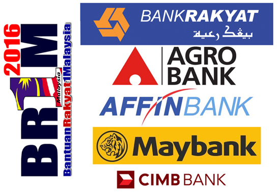 Senarai 19 Bank Terlibat Bayar BR1M 2016