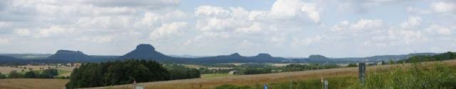 Panorama Sächsische Schweiz (Königsstein, Lilienstein)