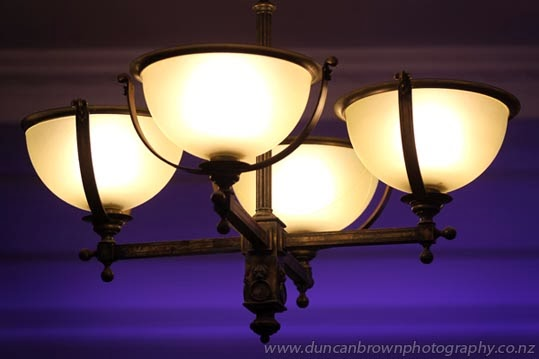 Art Deco lights in the Masonic Hotel, Napier photograph