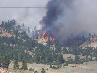 Forest fire at Lame Deer, Montana