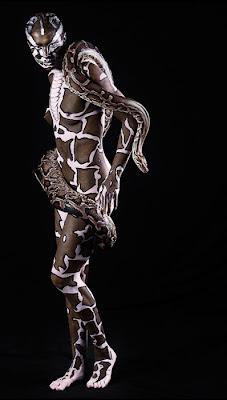 Body paint pitón python pintar cuerpo