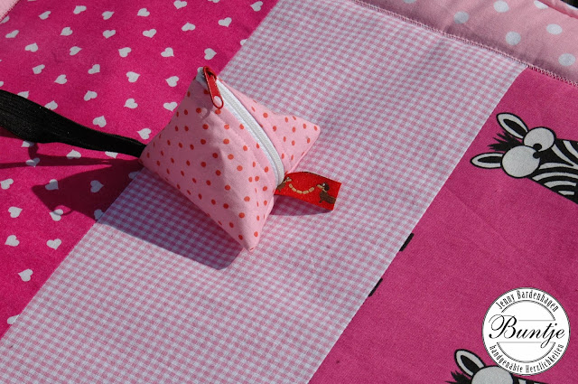 Krabbeldecke Kuscheldecke Decke Baby Name Mädchen rosa pink Tiere Baumwolle Fleece Geschenk Taufe Geburt handmade nähen Buntje