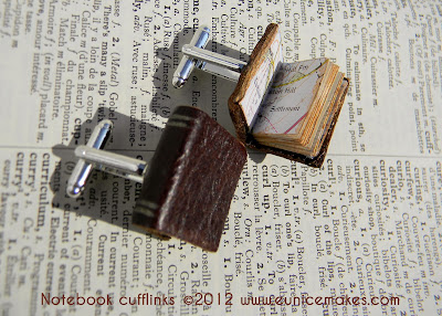 Hand made Book cufflinks £23