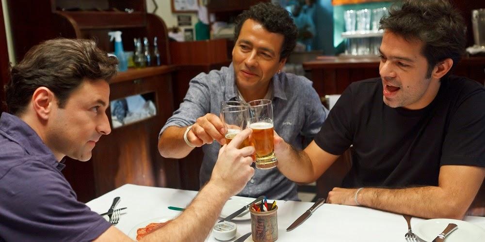 Emílio Orciolo Netto, Marcos Palmeira e Bruno Mazzeo em E AÍ... COMEU?