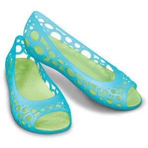 sandal crocs cewek hijau lucu