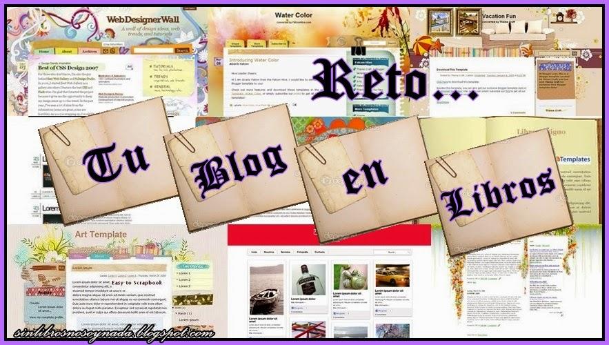 Reto: Tu blog en libros