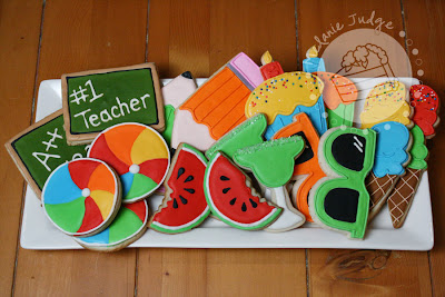 summer teacher vacation cookies