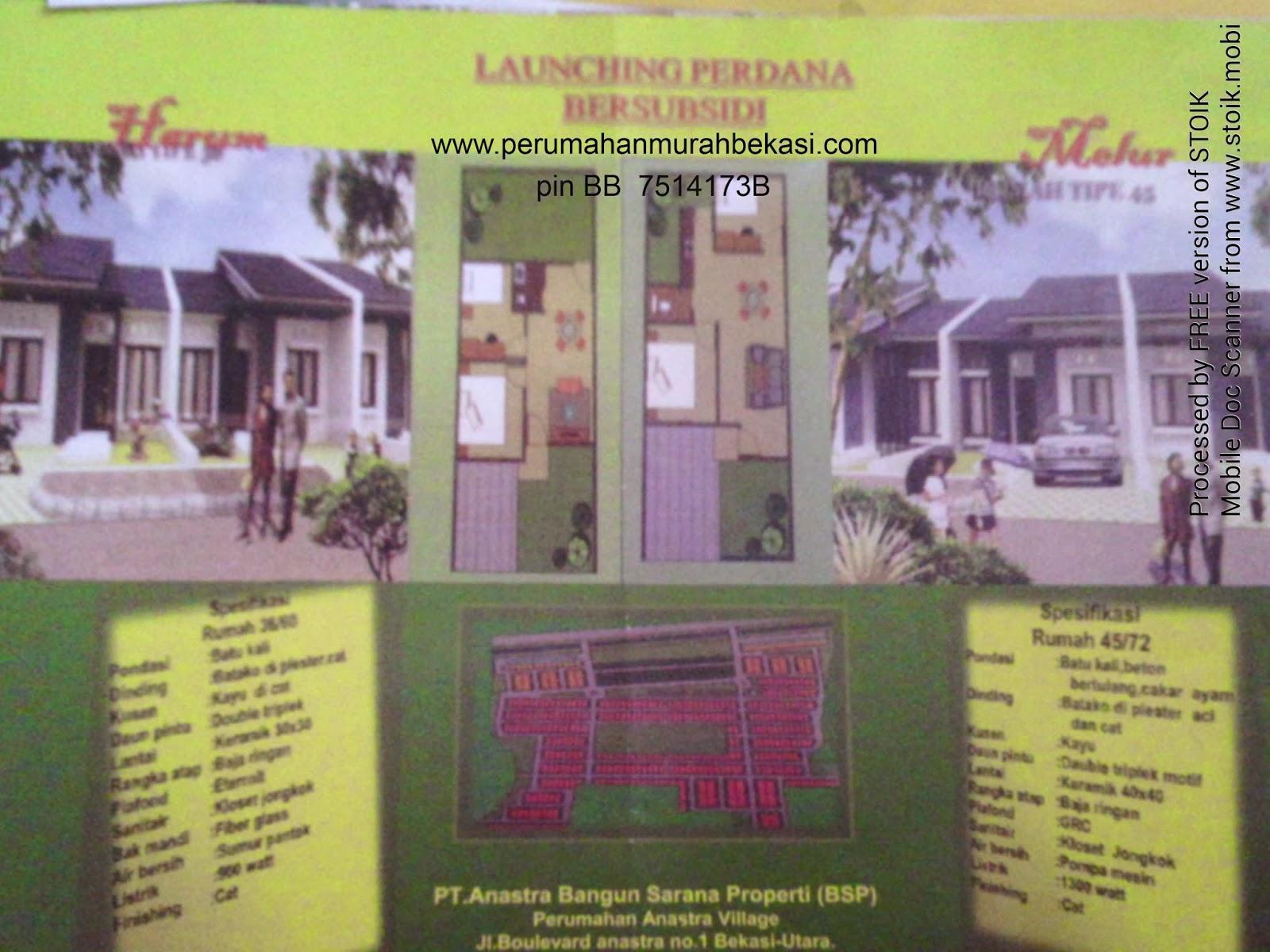 Perumahan Anastra Village Bekasi Utara