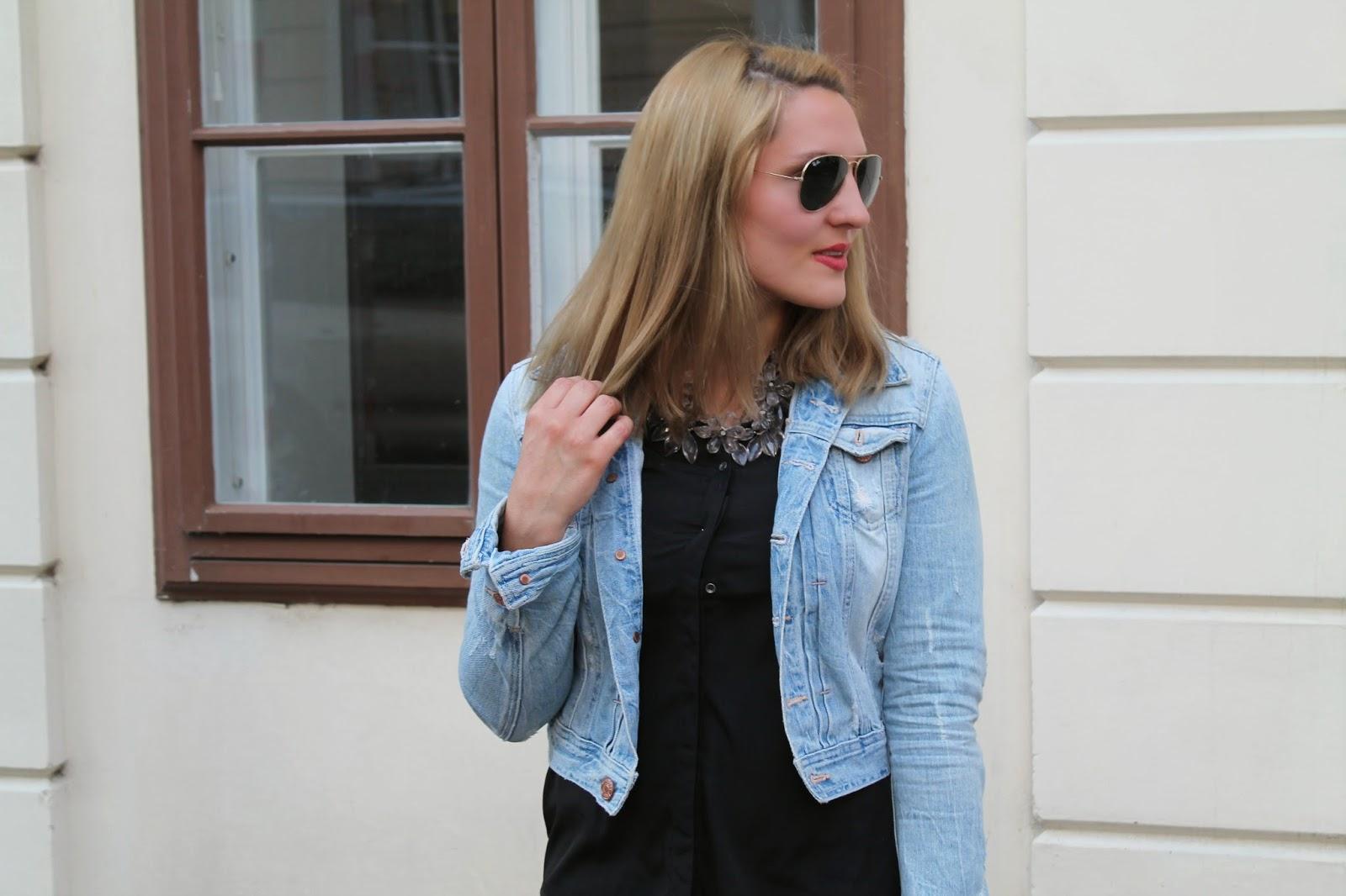 Fashionblogger Austria / Österreich / Deutsch / German / Kärnten / Carinthia / Klagenfurt / Köttmannsdorf / Spring Look / Classy / Edgy / Summer / Summer Style 2014 / Summer Look / Fashionista Look / Oasap Statement Necklace / Zara / Only / H&M / Ray Ban /