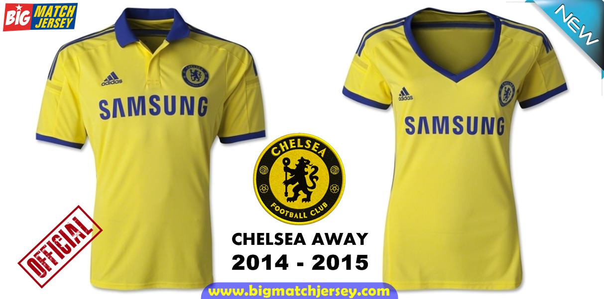 Jersey Couple Kaos Bola Grade Ori Chelsea Away Official 2014 - 2015