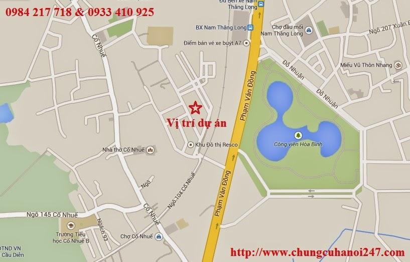 chung cư OCT5 Resco Cổ Nhuế nằm trong khu đô thị Resco Phạm Văn Đồng Quận Bắc Từ Liêm Hà Nội
