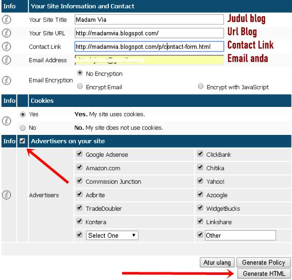 Cara Membuat Halaman Privacy Police Di Blog