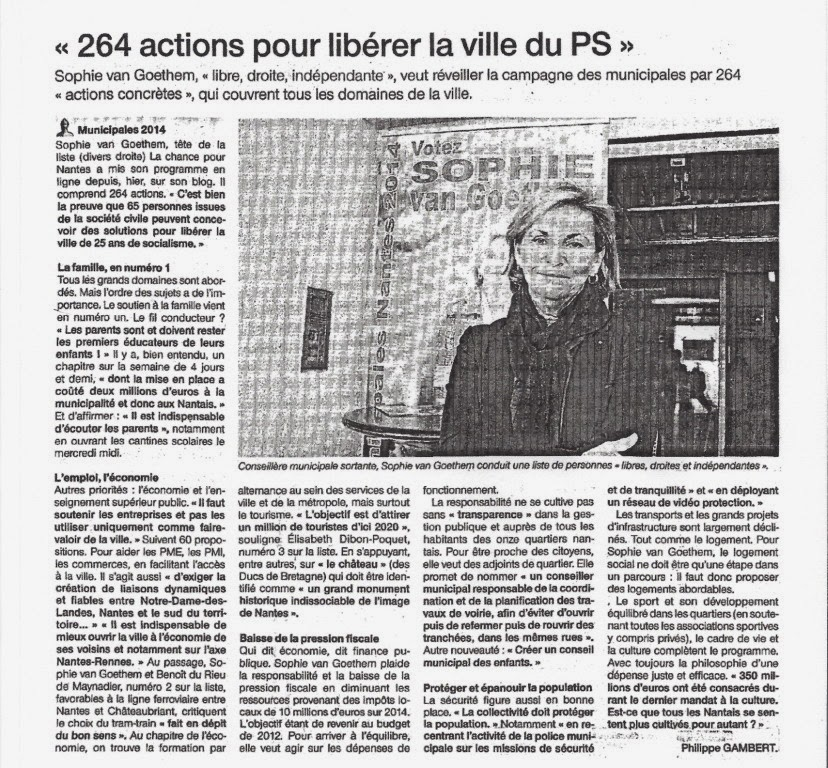 Ouest France 17.03.2014