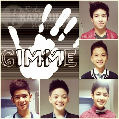 Gimme 5 Members (from top): Nash Aguas, Brace Arquiza, Grae Fernandez, Joaquin Reyes and John Bermundo