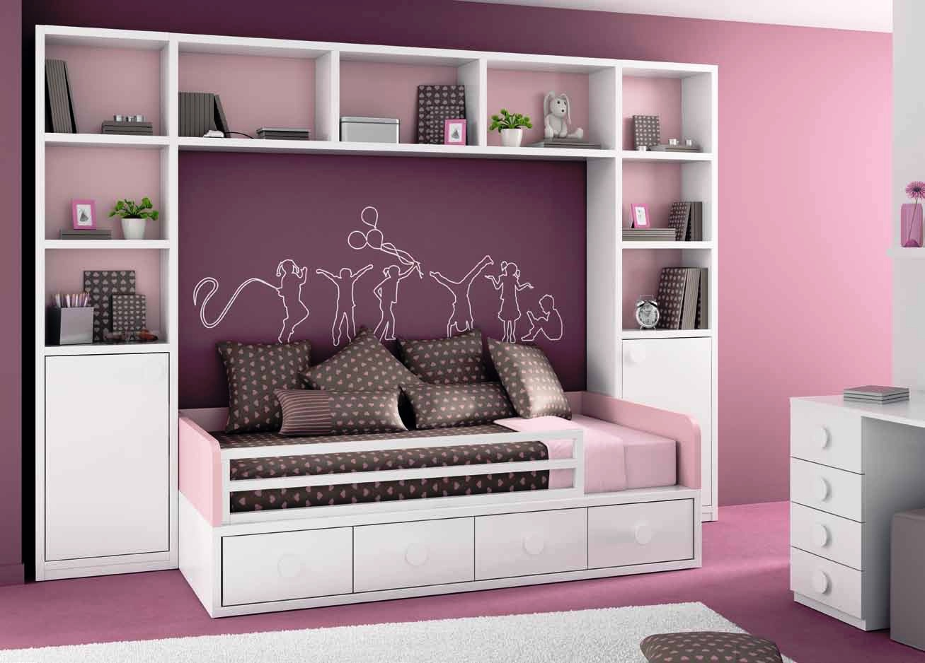 Tienda dormitorios juveniles decoraci n integral para tu for Camas con cajones debajo